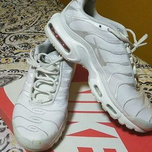 Men Air Max Plus  - White Leather